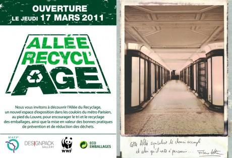"""Exposition """"Allée du Recycl'Age"""" au métro Palais Royal"""