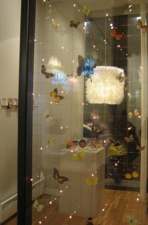 Ma Grande Ébouriffée vue à travers l'aquarium à papillons de Fabrice Guerrier