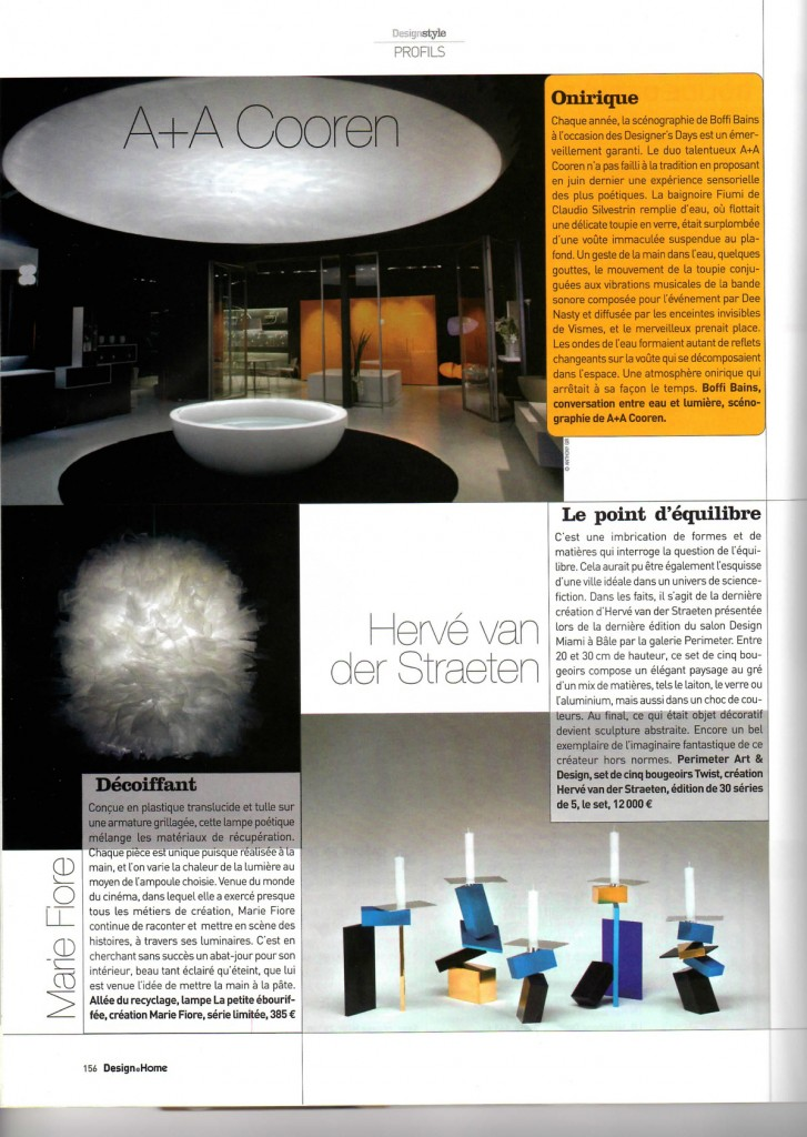 Marie Fiore, DESIGN@HOME, article
